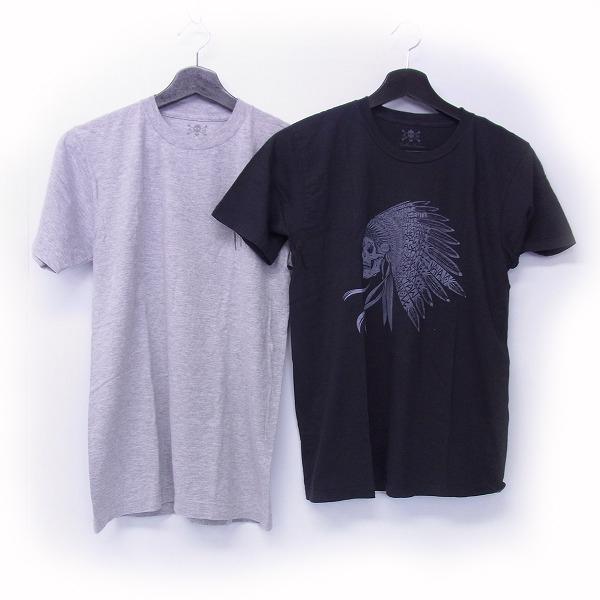 実際に弊社で買取させて頂いたANOTHER HEAVEN/アナザーヘブン スカルプリントTシャツ カットソー ブラック グレー/S 2点セット
