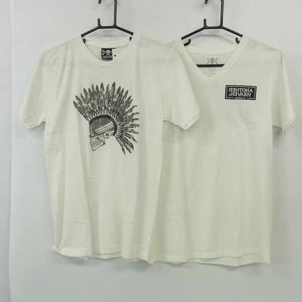 実際に弊社で買取させて頂いたANOTHER HEAVEN/アナザーヘブン スカルプリントTシャツ カットソー/S 2点セット