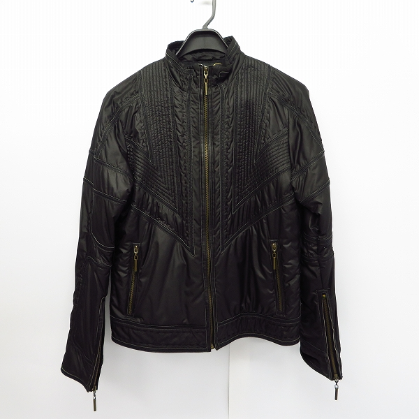 JUST cavalli/ジャストカヴァリ ライダースジャケット/ブルゾン ブラック/L