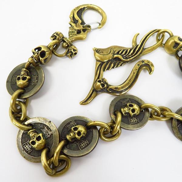 galcia×drybones/ガルシア×ドライボーンズ メキシカンスカル ウォレットチェーン ブラス 真鍮