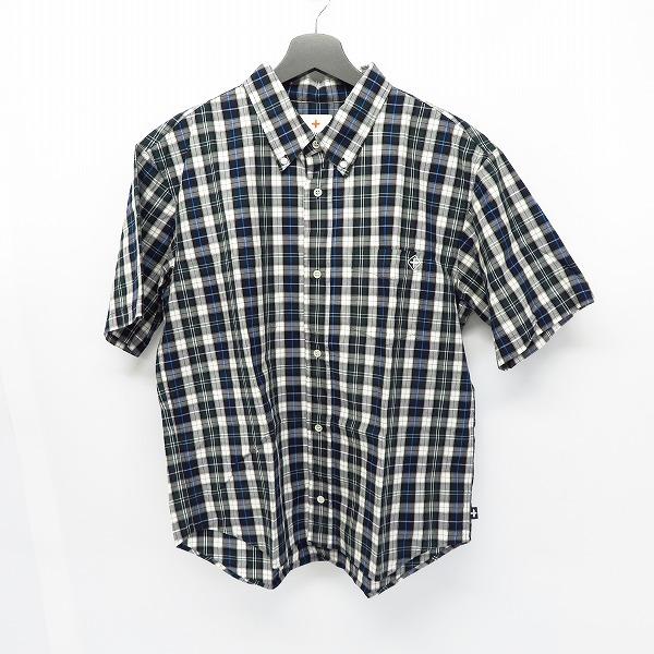 HEAD PORTER PLUS/ヘッドポータープラス チェック ボタンダウンシャツ/L