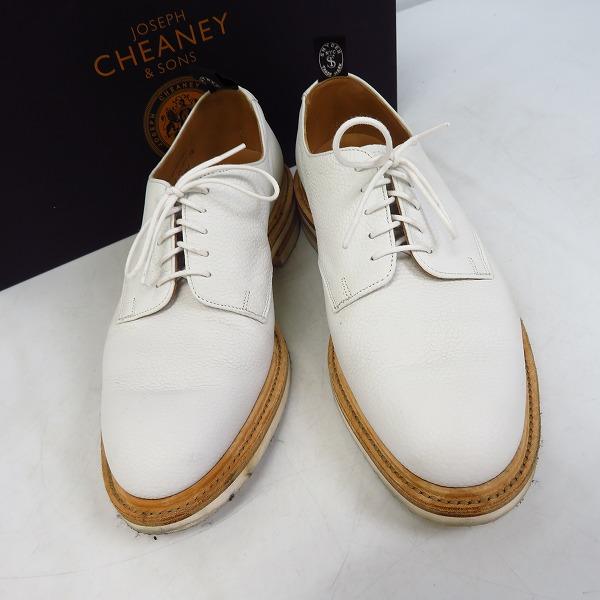 CHEANEY/チーニー ストレートチップ レースアップシューズ ホワイト/6.5