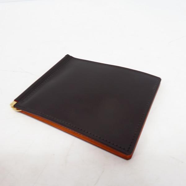 GANZO/ガンゾ THIN BRIDLE/ブライドルレザー マネークリップ WGAN57159