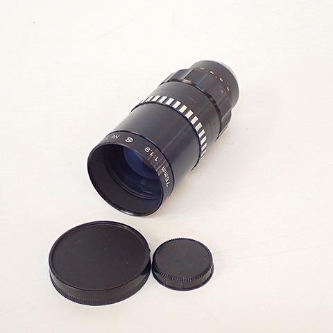 【動作未確認】COSMICAR/コズミカ TELEVISION LENS 75mm 1:1.9 テレビションレンズ 単焦点レンズ シネカメラ