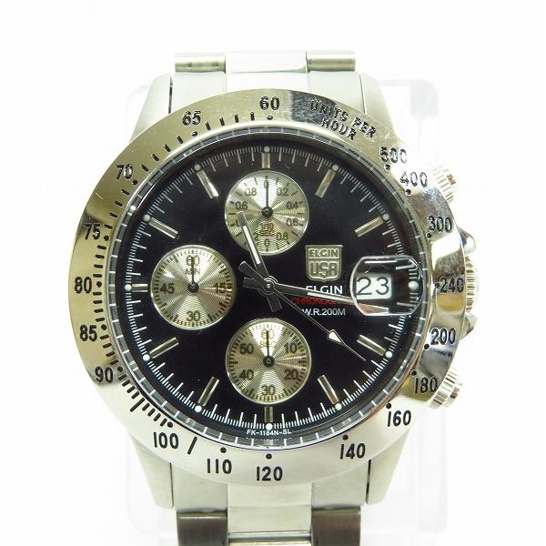 ELGIN/エルジン クロノグラフ 腕時計 FK-1184N-SL 【動作未確認】
