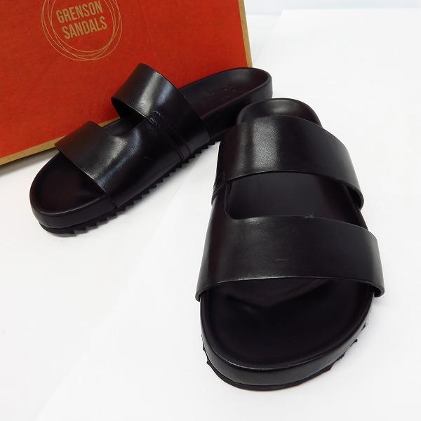 Grenson/グレンソン Chadwick Sandals ストラップ レザーサンダル ブラック 112236/8F