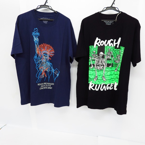 【未使用】ROUGH AND RUGGED/R&R/ラフ アンド ラゲッド プリントTシャツ 2点セット