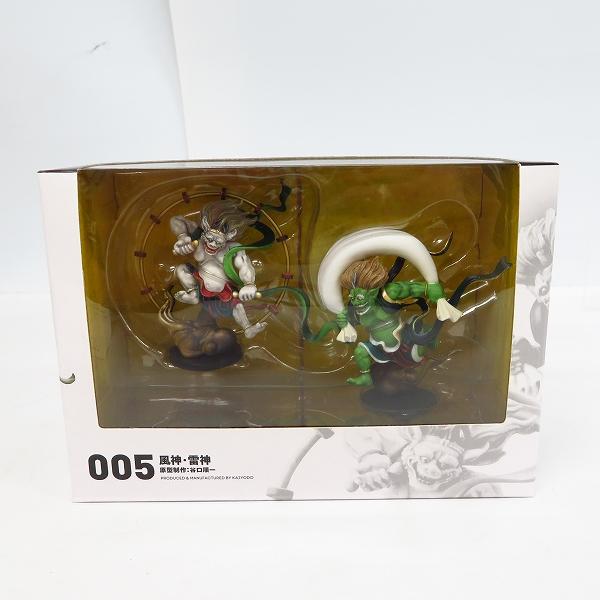 海洋堂/カイヨウドウ miniQ/ミニチュアキューブ 005 風神 雷神 ミニフィギュア
