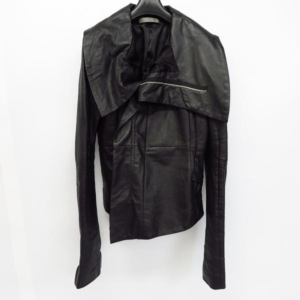 EKAM/エカム 変形ラムレザーダブルジップジャケット/ライダースジャケット ブラック/S