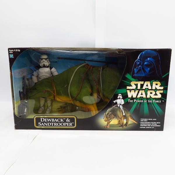 【未開封】Hasbro/ハズブロ STAR WARS/スターウォーズ THE POWER OF THE FORCE DEWBACK&SANDTROOPER フィギュア12インチ