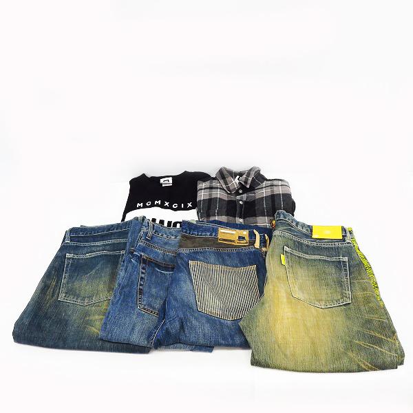 SWAGGER/スワッガー 半袖 Tシャツ/長袖 シャツ/デニムパンツ 6点セット