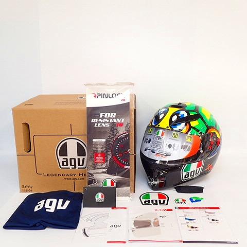 【美品】AGV/エージーブイ K-3 SV TARTARUGA バイク用 フルフェイス ヘルメット XL サイズ