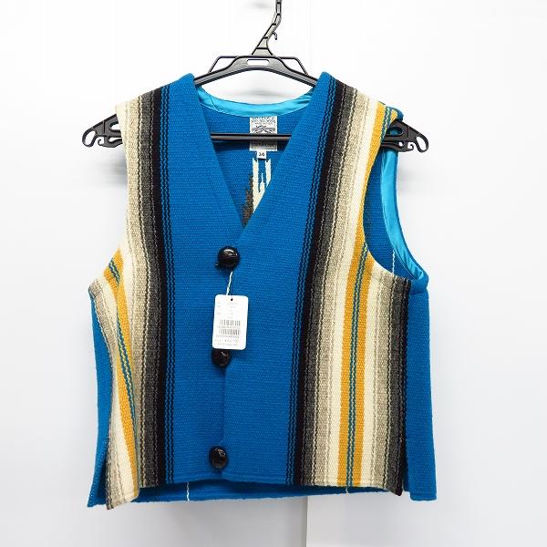 【未使用】ORTEGA'S/オルテガ CHIMAYO/チマヨ ベスト レディース ブルー/34