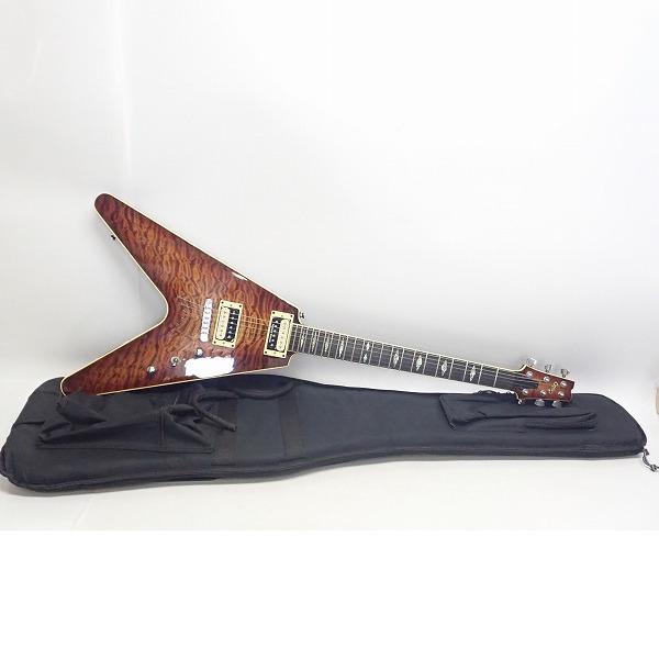 ★【型番不明】GMP Guitars Vタイプ ハンドメイド エレキギター ソフトケース付き
