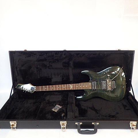 実際に弊社で買取させて頂いた★【難あり】Dean/ディーン Custom 350 Floyd Trans Black C350F TBK エレキギター ハードケース付き