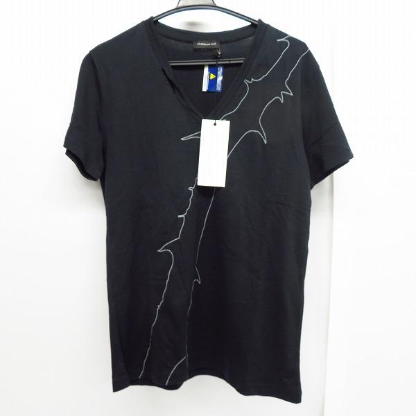 【未使用】KRISVANASSCHE/クリスバンアッシュ 棘 プリント Vネック Tシャツ カットソー S