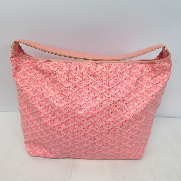 GOYARD/ゴヤール フィジー ヘリンボーン PVC×カーフ ワンショルダーバック ピンク