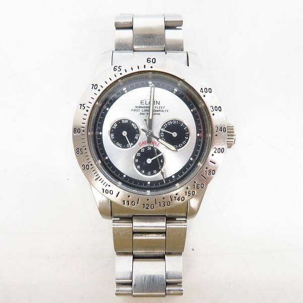ELGIN/エルジン DAY DATE 腕時計 FK-345【動作未確認】