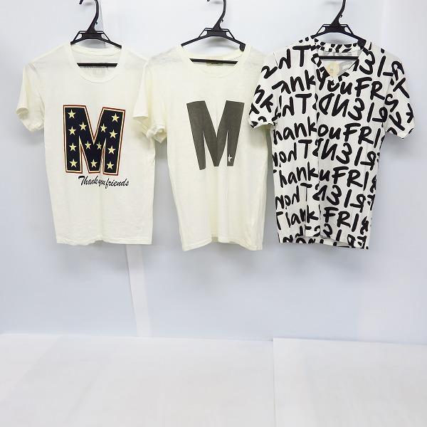 M/エム シンプルロゴ/総プリント/ロゴ総スター プリント ハーフスリーブ/半袖 カットソー/Tシャツ S/XS 3点セット