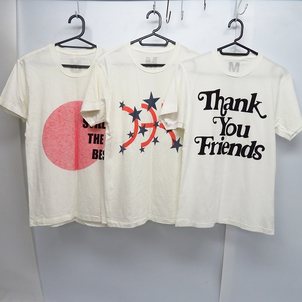 M/エム スター/Thank You Friends/STILL THE BEST プリント ハーフスリーブ/半袖 カットソー/Tシャツ XS 3点セット