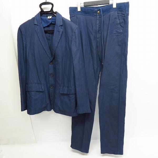 実際に弊社で買取させて頂いたADAM KIMMEL/アダムキメル イタリア製 リネン紺 テーラードジャケット/スウェットパンツ セットアップ XXS