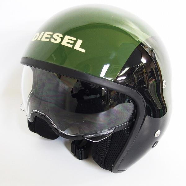 実際に弊社で買取させて頂いた【観賞用】AGV×DIESEL/エージーブイ×ディーゼル HI-JACK ハイジャック ブラック/グリーン ジェットヘルメット