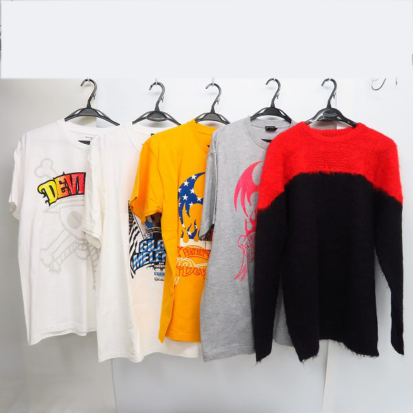 実際に弊社で買取させて頂いたDEVILOCK/デビロック PERFECT IS POSSIBLE プリントTシャツ等 5点セット