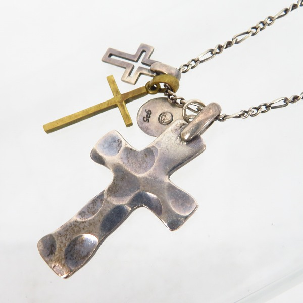 実際に弊社で買取させて頂いたamp japan/アンプジャパン トリプル クロス ネックレス