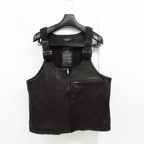 実際に弊社で買取させて頂いたUNUSED/アンユーズド Leather Vest/レザー ベスト/ブラック US1657/4