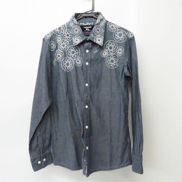実際に弊社で買取させて頂いたMAHARISHI/マハリシ シャンブレー 刺繍 長袖 シャツ/S