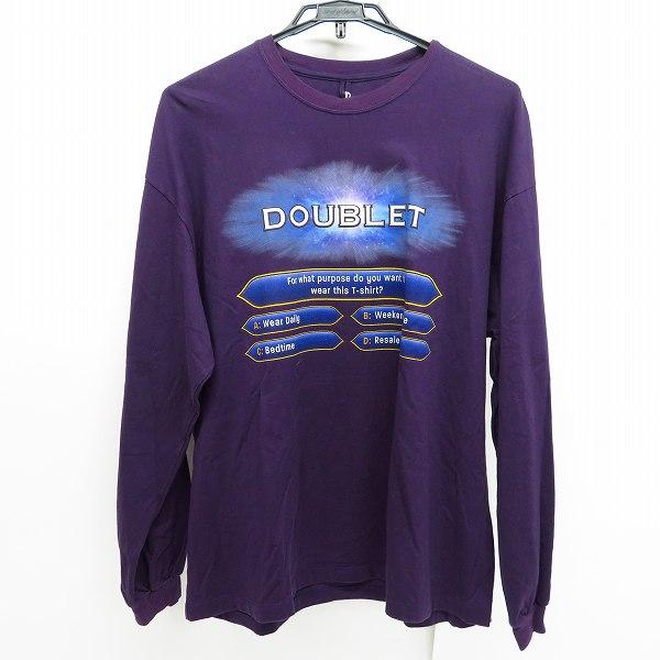 実際に弊社で買取させて頂いたdoublet×WISM/ダブレット×ウィズム FIFTY:FIF-TSHIRT Tシャツ カットソー ロンT 長袖/M