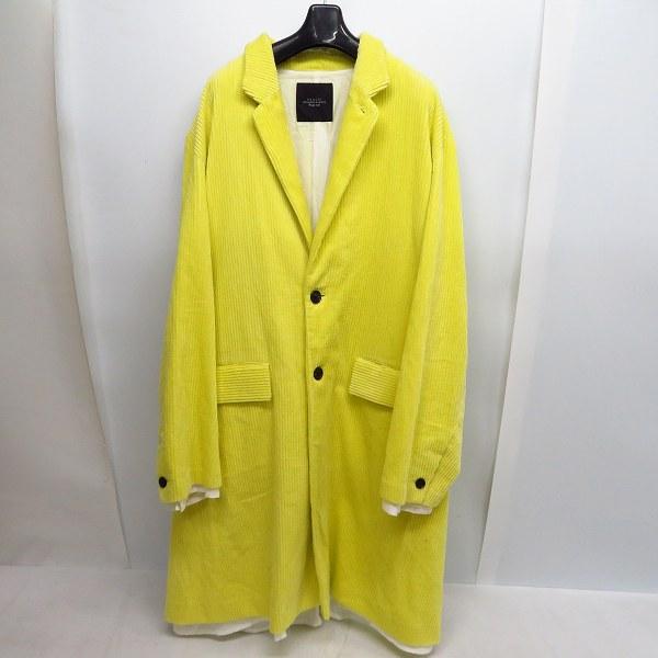 実際に弊社で買取させて頂いたUNUSED/アンユーズド Corduroy Coat./コーデュロイ コート イエロー系 US1300 Size:3