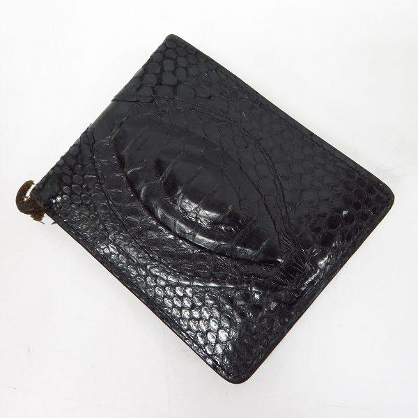 実際に弊社で買取させて頂いたCELT&COBRA/ケルトアンドコブラ パイソンレザー 二つ折り財布/ウォレット