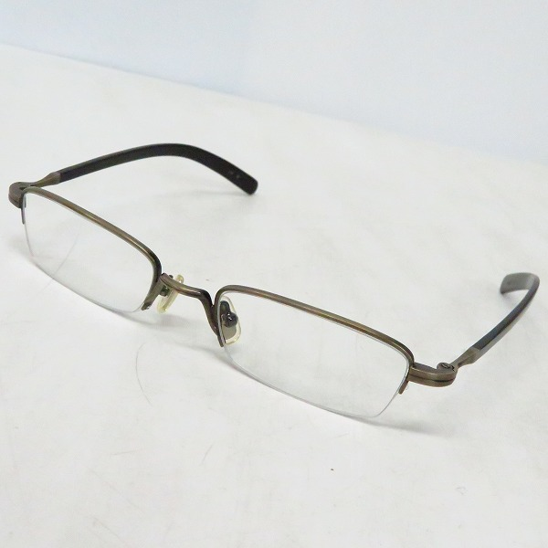 実際に弊社で買取させて頂いた金子眼鏡/カネコガンキョウ 恒眸作 手造り メガネフレーム/度入り T227
